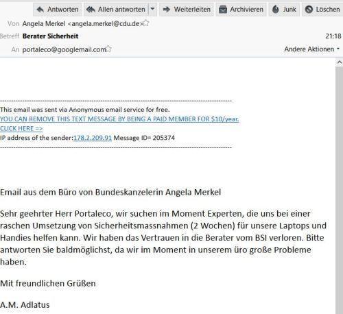 Email Merkel 2